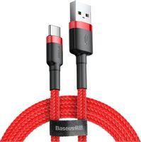 KABEL USB-C BASEUS CAFULE 3A 1m CZERWONY