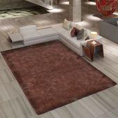 Brązowy, puchaty dywan 160 x 230 cm