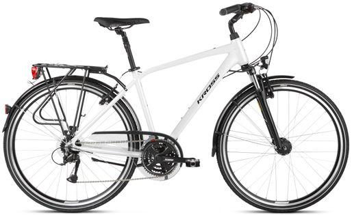 """Kross Trans 4.0 28 L 21"""" rower perłowy/czarny połysk 12"""
