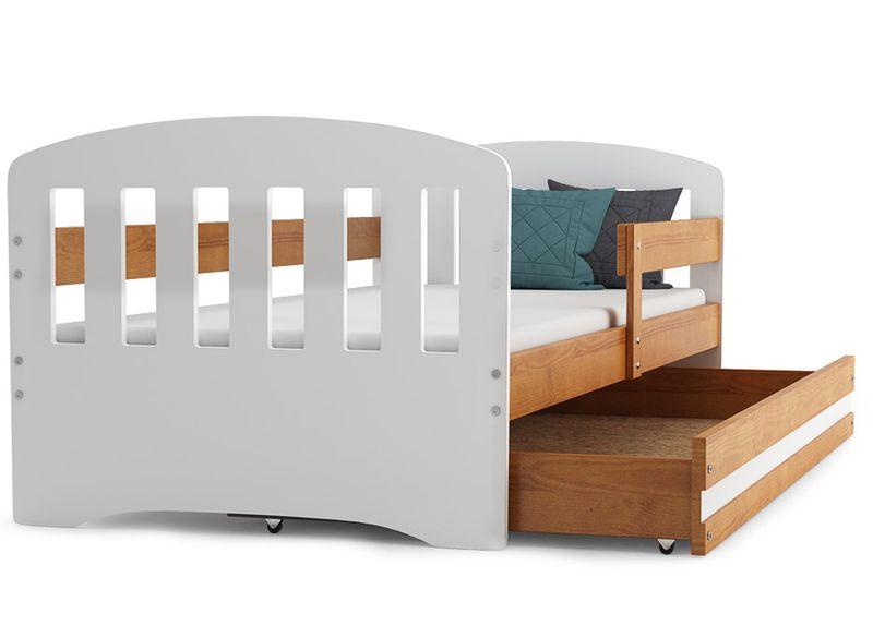 Łóżko dla dzieci HAPPY dziecięce 160x80  + SZUFLADA + MATERAC zdjęcie 7