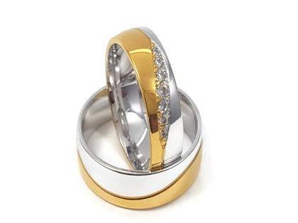 Złote Obrączki Ślubne 585 model FA15 DUŻY WYBÓR