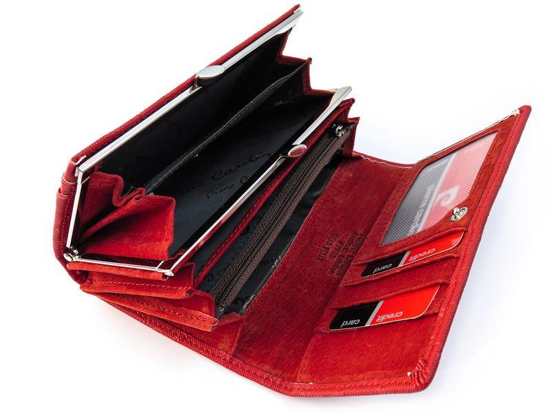 Czerwony portfel damski Pierre Cardin PFD10 zdjęcie 2