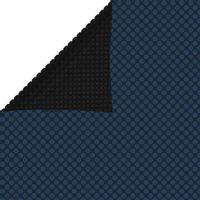Pływająca folia solarna z PE, 800x500 cm, czarno-niebieska