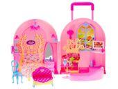Przenośny DOMEK walizka Dla Lalki sypialnia ZA0177