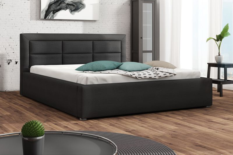 Łóżko tapicerowane 160x200 + stelaż SZYBKA WYSYŁKA zdjęcie 1