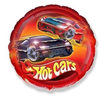 "Balon foliowy ""Hot Cars"", FLEXMETAL, 18"" RND"