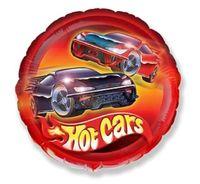 Balon foliowy Hot Cars Wheels samochody wyścigowe