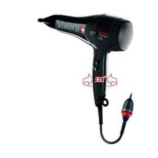 Suszarka do włosów Valera Swiss Turbo ST 7000 RC Czarny zdjęcie 9