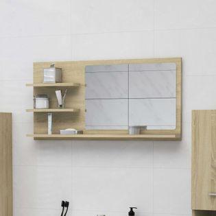 Lumarko Lustro łazienkowe, dąb sonoma, 90x10,5x45 cm, płyta wiórowa