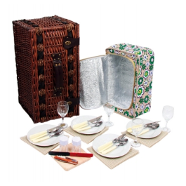 Wiklinowy Kosz piknikowy Luksus dla 4 osób zdjęcie 3