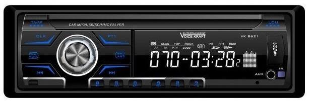 Radio samochodowe Voice Kraft VK-8621 BLUE radioodtwarzacz zdjęcie 3