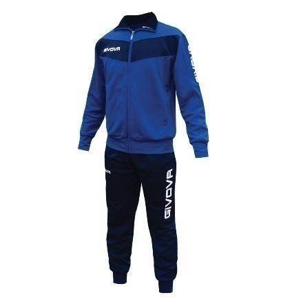 Dres treningowy bluza + spodnie Givova Visa niebiesko-granatowy 4XS na Arena.pl