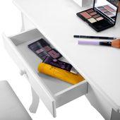 Toaletka Kosmetyczna Biała NANCY + lustro + taboret zdjęcie 10