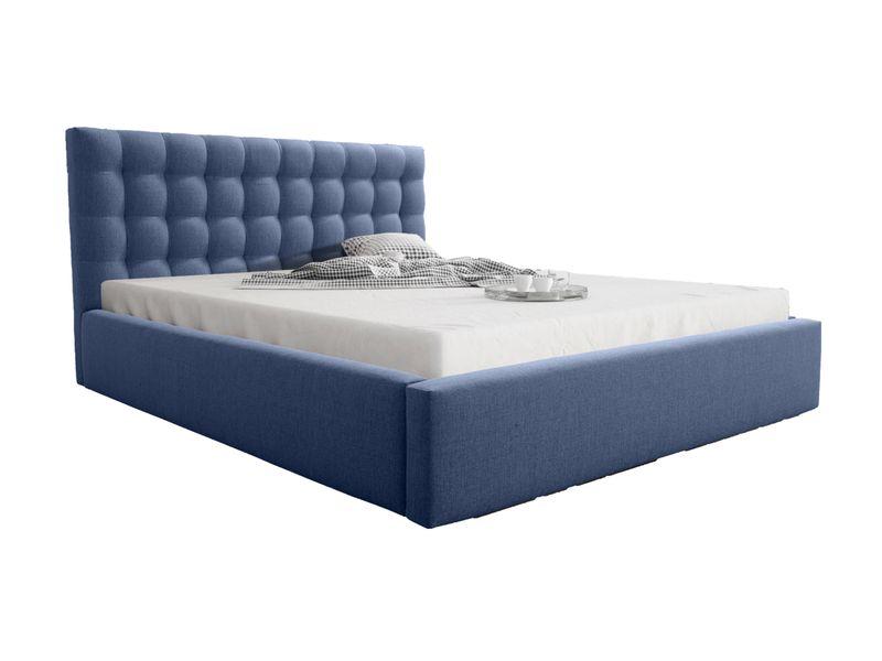 łóżko Tapicerowane Look 200x200 Stelaż Pojemnik