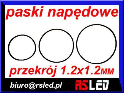 pasek napędowy audio video przekrój 1,2 x 1,2 mm duży wybór