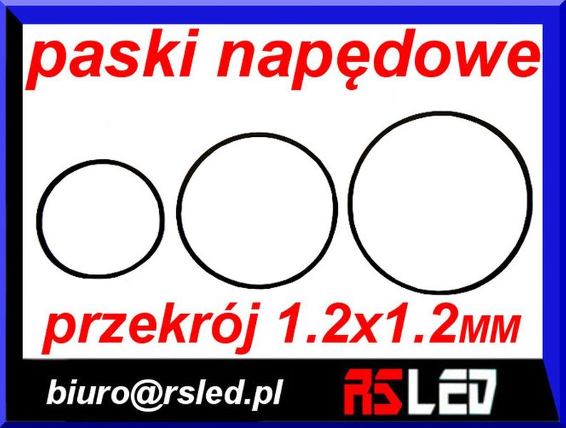 pasek napędowy audio video przekrój 1,2 x 1,2 mm duży wybór na Arena.pl