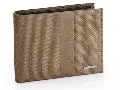 Męski skórzany poziomy portfel Valentini, brązowy