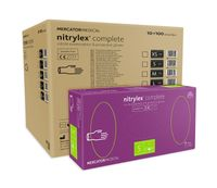 Rękawice nitrylowe nitrylex complete S karton 10 x 100 szt