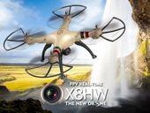 Dron RC SYMA X8HW 2,4GHz Kamera FPV Wi-Fi  E1