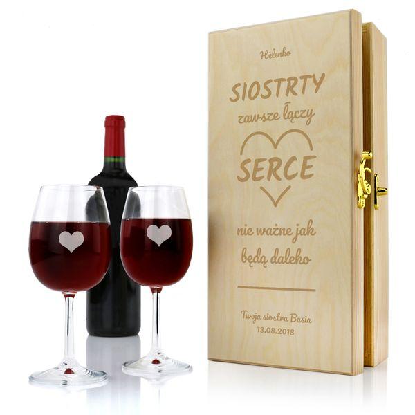 Skrzynka Na Wino Z Grawerem Na Prezent Dla Siostry Arenapl