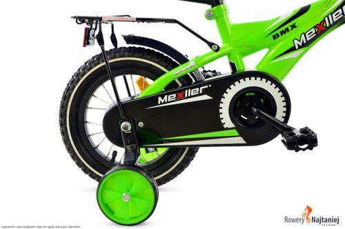 Rower rowerek dla dziecka BMX Mexller 12 czarno-zielony 2-5 lat OKAZJA na Arena.pl