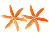Hq Prop Hex Push Blades 5X4X6 Pomarańczowe (2Xccw)