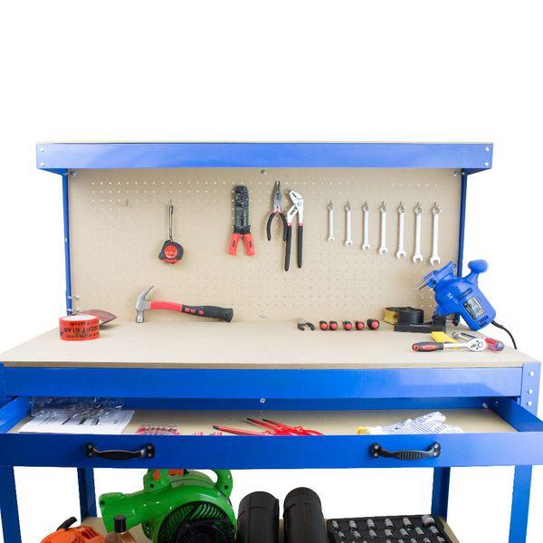 Stół Warsztatowy Garażowy Duży z Szufladą uchwyty Solidny do 100 kg zdjęcie 5