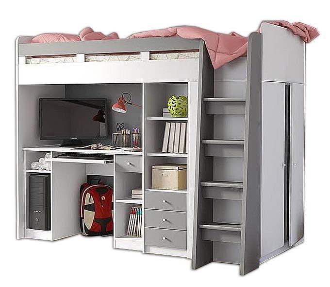 Łóżko Piętrowe dla dzieci, meble młodzieżowe antresola UNIT zdjęcie 2
