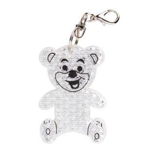 Brelok odblaskowy Teddy, transparentny