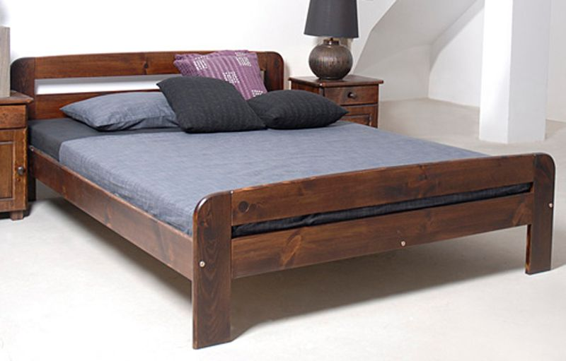 łóżko Drewniane 140x200 Klaudia Kolory Olchadąborzech Meble Magnat