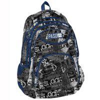 Lekki trzykomorowy plecak szkolny Paso, napisy