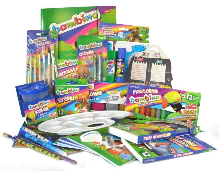 Wyprawka szkolna BAMBINO 38 elementów + GRATISY! zdjęcie 1