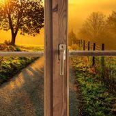 Obraz na płótnie - Canvas, okno - droga ku zachodowi 60x40 zdjęcie 3