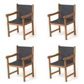 Fotel ogrodowy drewniany z technorattanem fotele drewniane rattan 4szt