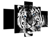 Obraz Drukowany 150x105 Tygrysy  wykończenie  jedyny w swoim rodzaju