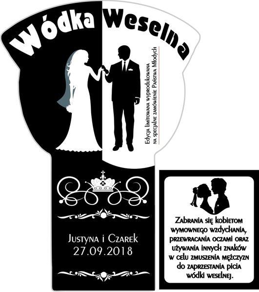 NAKLEJKI ETYKIETY NA WÓDKĘ WESELNĄ ŻUBRÓWKA BLACK na Arena.pl