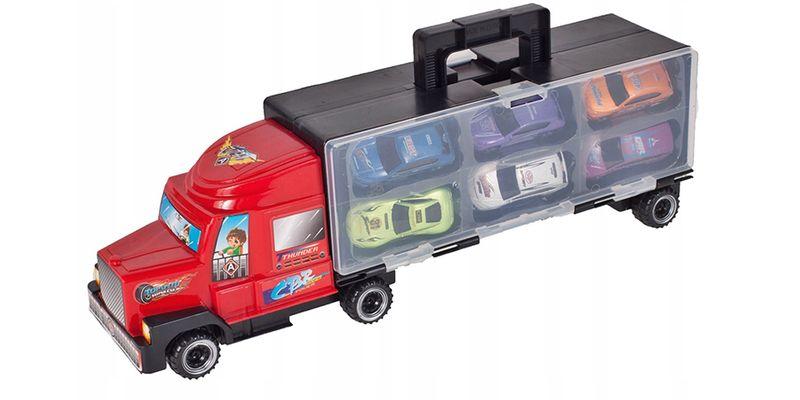 Ciężarówka z walizką z metalowymi autami TIR Y187 zdjęcie 3