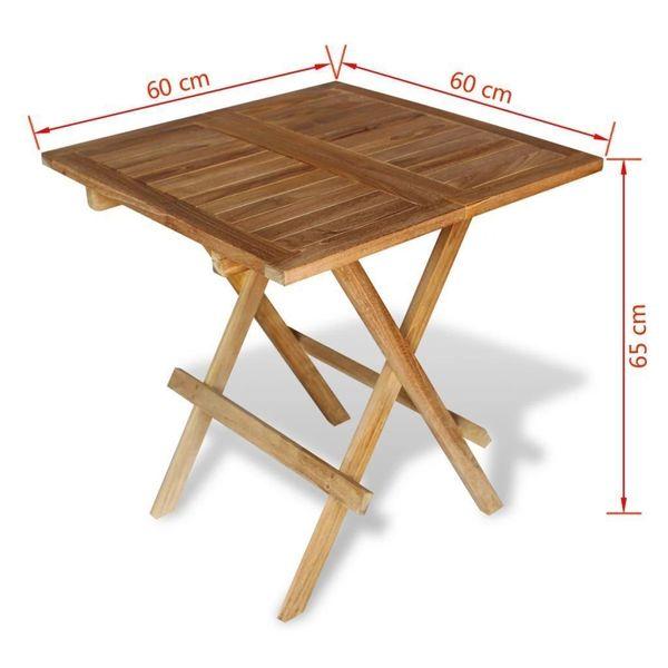 Stół Stolik Ogrodowy Na Taras Balkon Drewniany