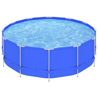 Lumarko Basen na stalowej ramie, 457x122 cm, niebieski!