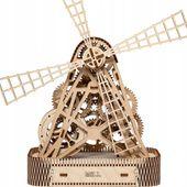 WIATRAK MŁYN Mechaniczne Puzzle 3D Drewniane Wooden City