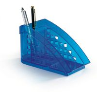 Durable Przybornik na biurko niebieski przeźroczysty Trend