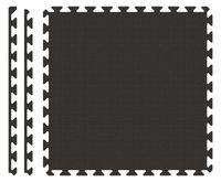 PUZZLE PIANKOWE MATA 4szt 62x62x1,1 cm Czarny