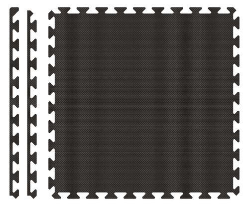 PUZZLE PIANKOWE MATA 4szt 62x62x1,1 cm Czarny na Arena.pl