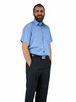 48/49 - 4XL Elegancka duża koszula męska niebieska indygo