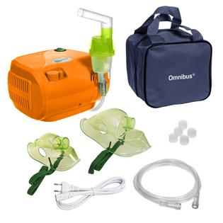 Inhalator nebulizator dla dzieci i dorosłych OMNIBUS BR-CN116 Orange