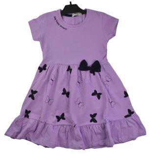 Sukienka Butterfly fiolet, bawełna roz.128