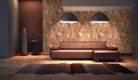 Dekoracyjne Panele Ścienne PCV 3D Kamień Natural Stone Brąz Cegła