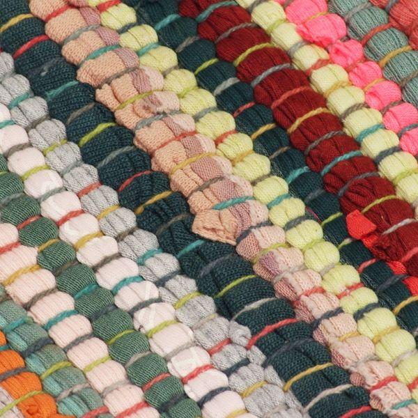 Ręcznie Tkany Dywan Chindi Bawełna 200x290 Cm Kolorowy