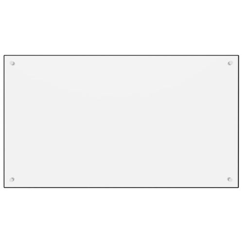 Lumarko Panel ochronny do kuchni, biały, 100x60 cm, szkło hartowane na Arena.pl