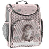 Lekki tornister szkolny w serduszka z kotkiem, Paso Rachael Hale